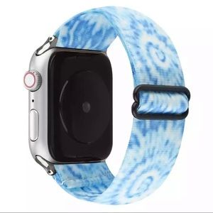 Tie Dye Blue and White Nylon Band for Apple Watch